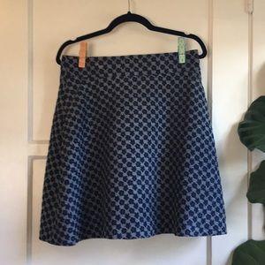 Ann Taylor Navy Flounce Skirt